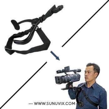 Support épauliere pour caméra / Noir