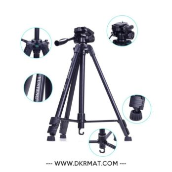 Trépied Yunteng Vct-590 pour appareil photo avec tête d'amortissement...