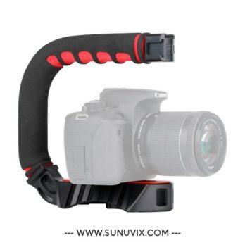 U-Grip Pro Ulanzi pour camera / Noir Rouge