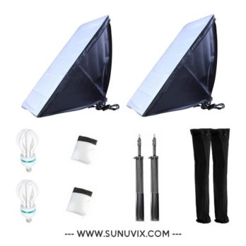 2x Softbox 50 x 70 cm Sunuvix SV-5070 éclairage...